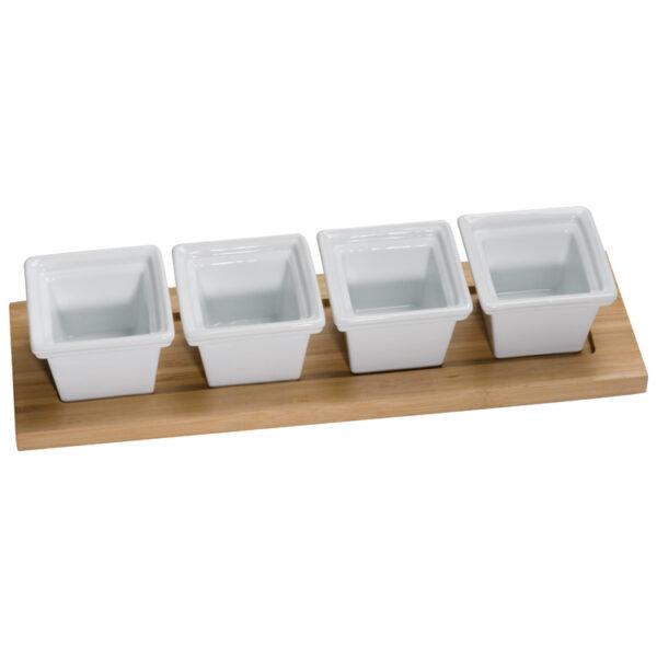 bamboo tray set, 4 pieces