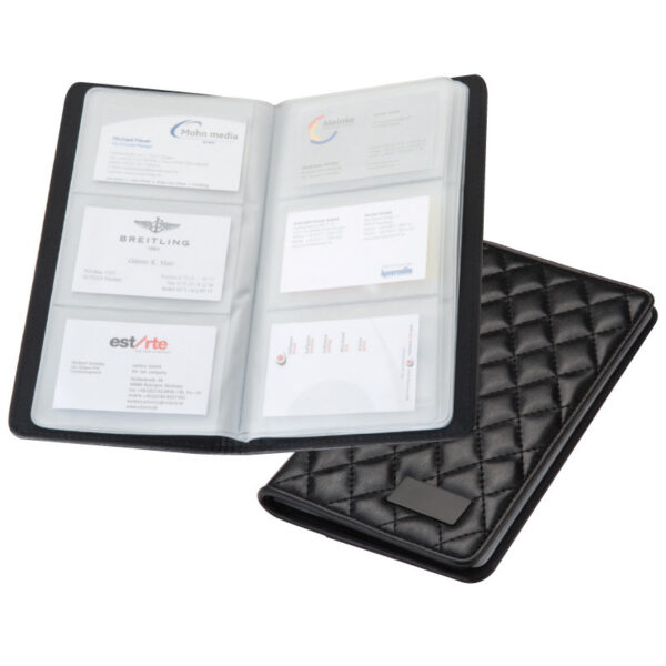 CrisMa business card folder with quilted design for 72 business cards