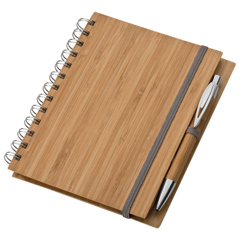 Note pad with bamboo cover A6