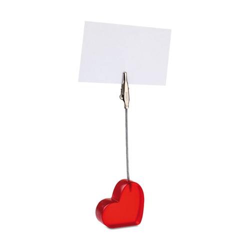 Heart shaped desk clip