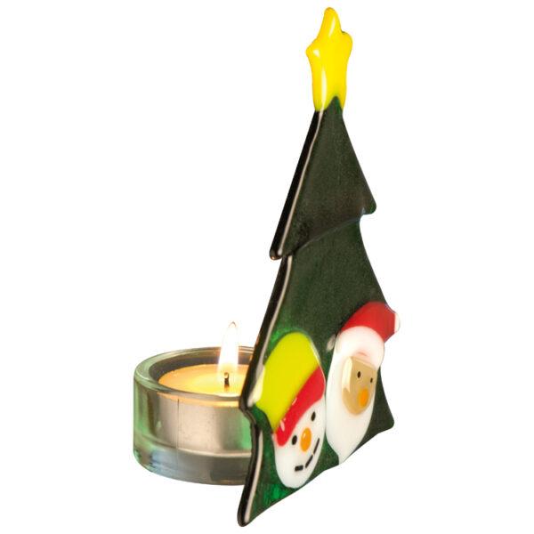 "Glass tea light holder ""Christmas tree"""