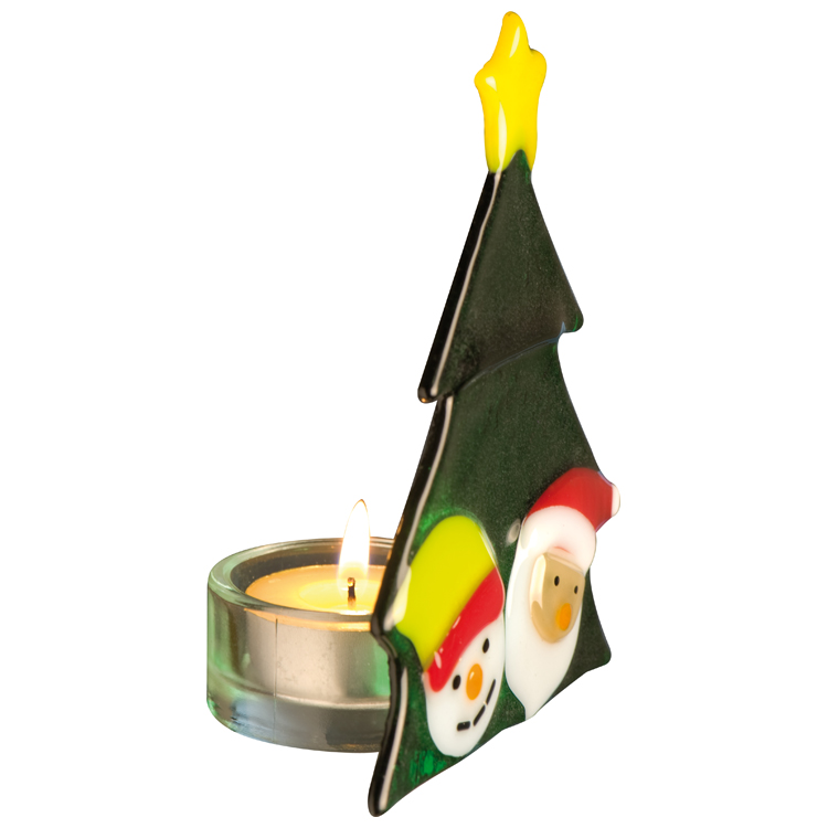 "Glass tea light holder ""Christmas tree"""
