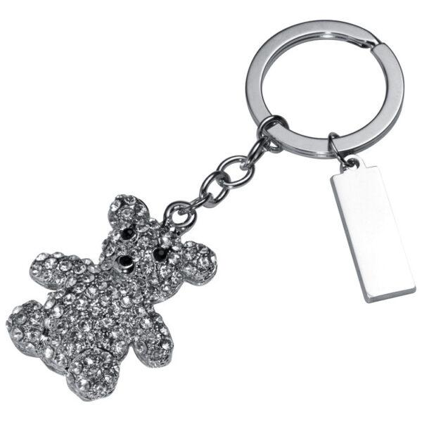 Key ring with gemstones, bear