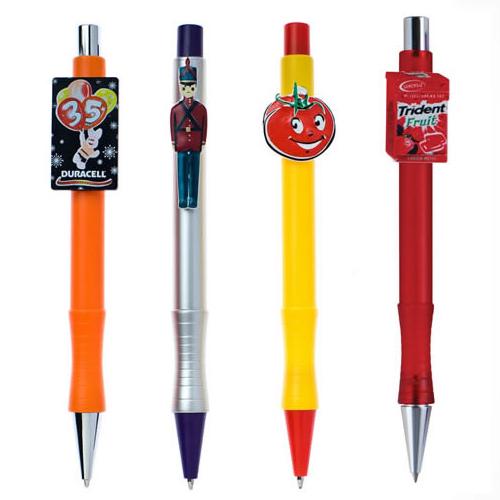 Custom shape clip ballpoint pen