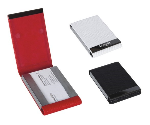 Leather and Metal Card Holder