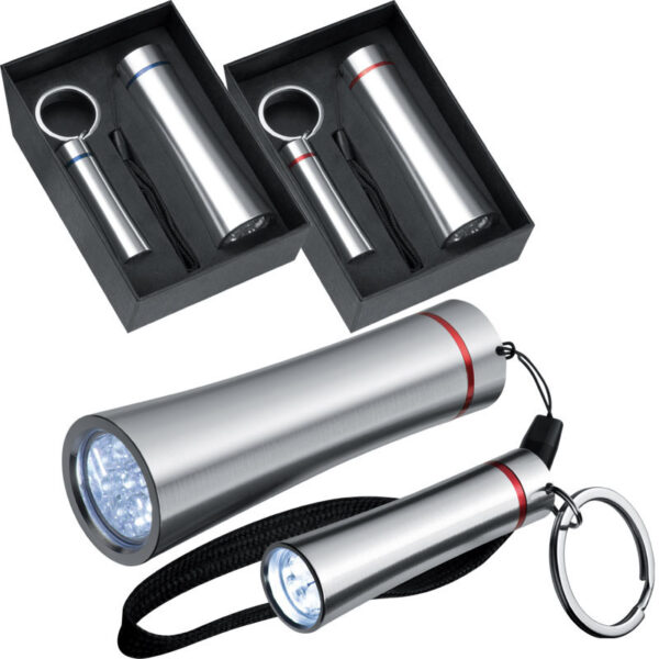 Set consisting of a large torch (9 LEDs) and a small torch (3 LEDs)