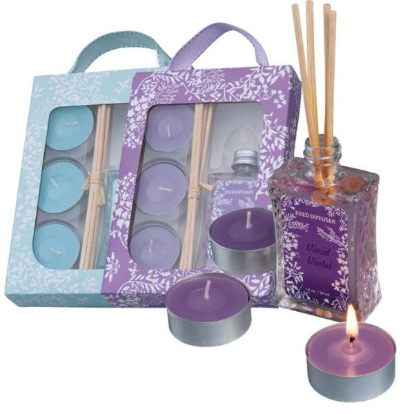 Fragrance set with three tealights