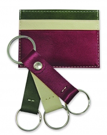 Leather Card Holder & Keychain