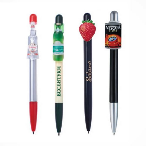 Custom shape clip ballpoint pen
