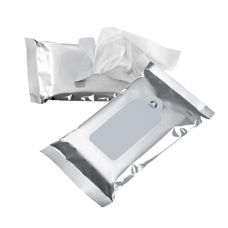 15 moist tissues in silver packing