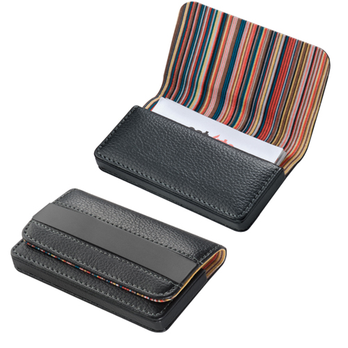 Leather Card Holder magnetic closure