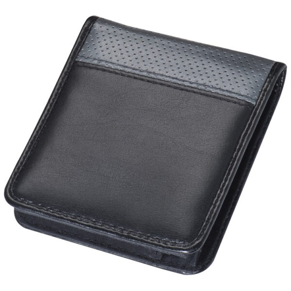 Wallet with grey hole pattern