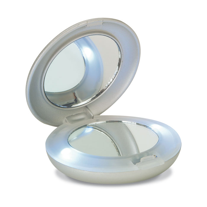 Make-up mirror with white LED light