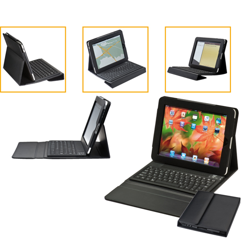 Case for tablet PCs with keyboard