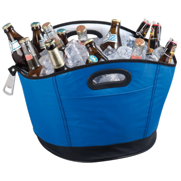 Big round cooler bag with bottle opener