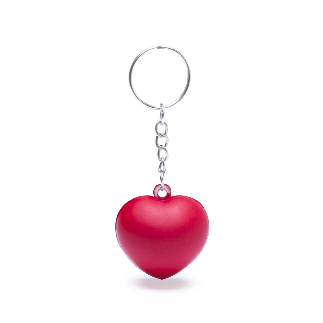 Puffy Heart Shaped Keychain